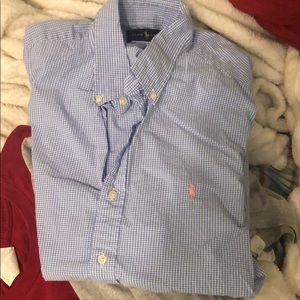 Men's Polo short sleeve casual button up shirt